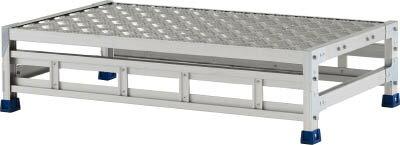 アルインコ 作業台(天板縞板タイプ)1段 CSBC121WS