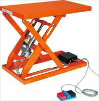 TRUSCO テーブルリフト1000kg電動Bねじ100V 800×1200mm HDLL100812V12