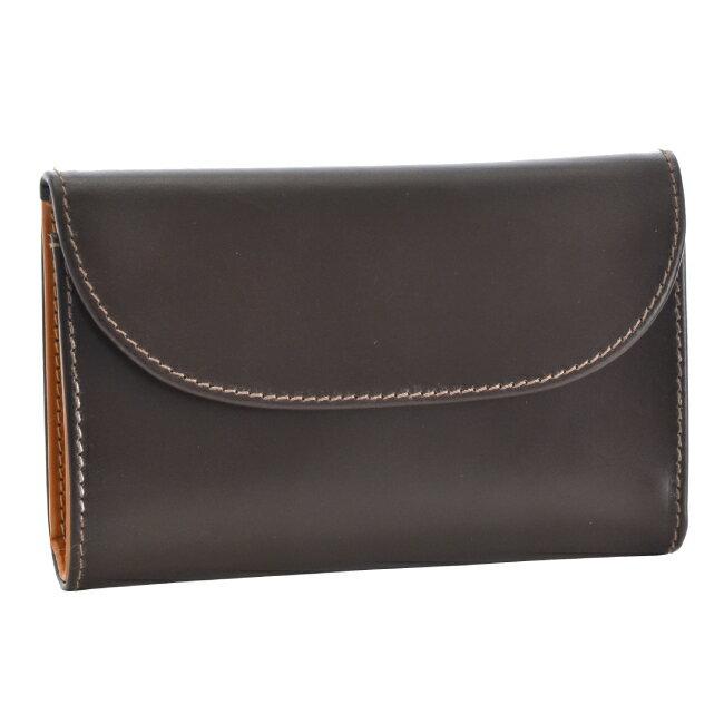 ホワイトハウスコックス/WHITEHOUSE COX 財布 メンズ ブライドルレザー 3つ折り財布 ブラウン×マスタード  S1112-SC-0006