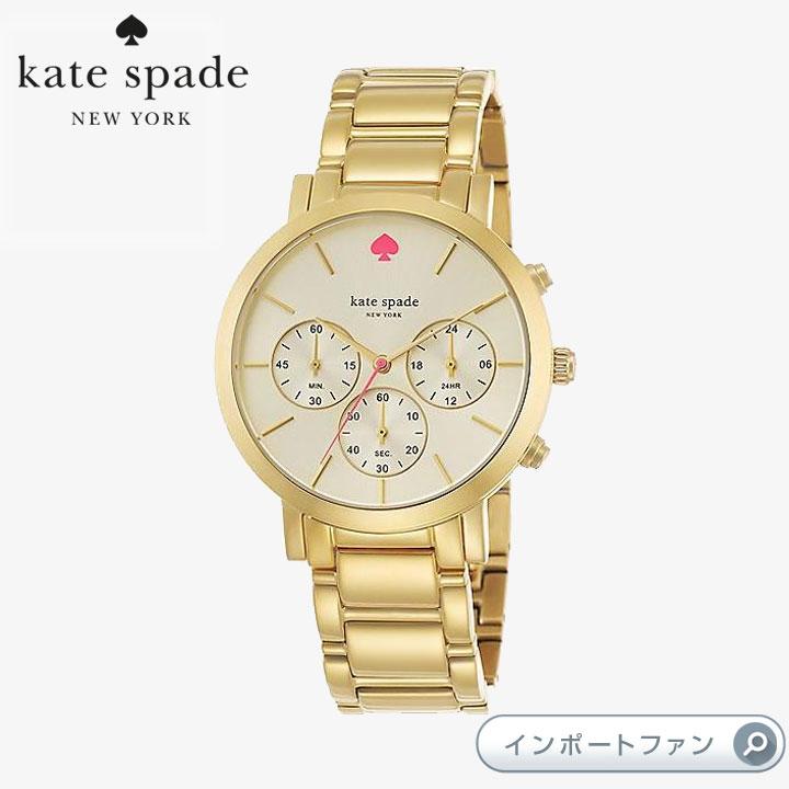 Kate Spade ケイトスペード グラマシ― グランド クロノグラフ 腕時計 gramercy grand chronograph 正規輸入品 □