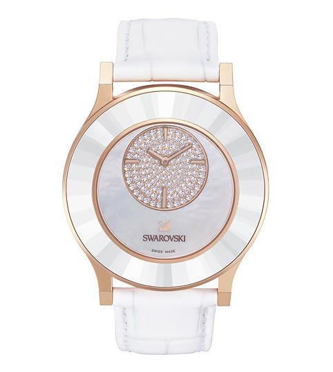 スワロフスキー オクテア クラッシカ アスメティック ホワイトローズゴールドトーン ウォッチ 腕時計 5095482 Swarovski Octea Classica asymmetric White Rose Gold Tone Watch □