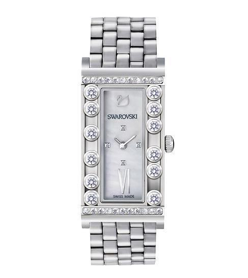 スワロフスキー ラブリー クリスタル スクエアー ホワイト ウォッチ 腕時計 シルバー 5096682 Swarovski Lovely Crystals Square White Watch □