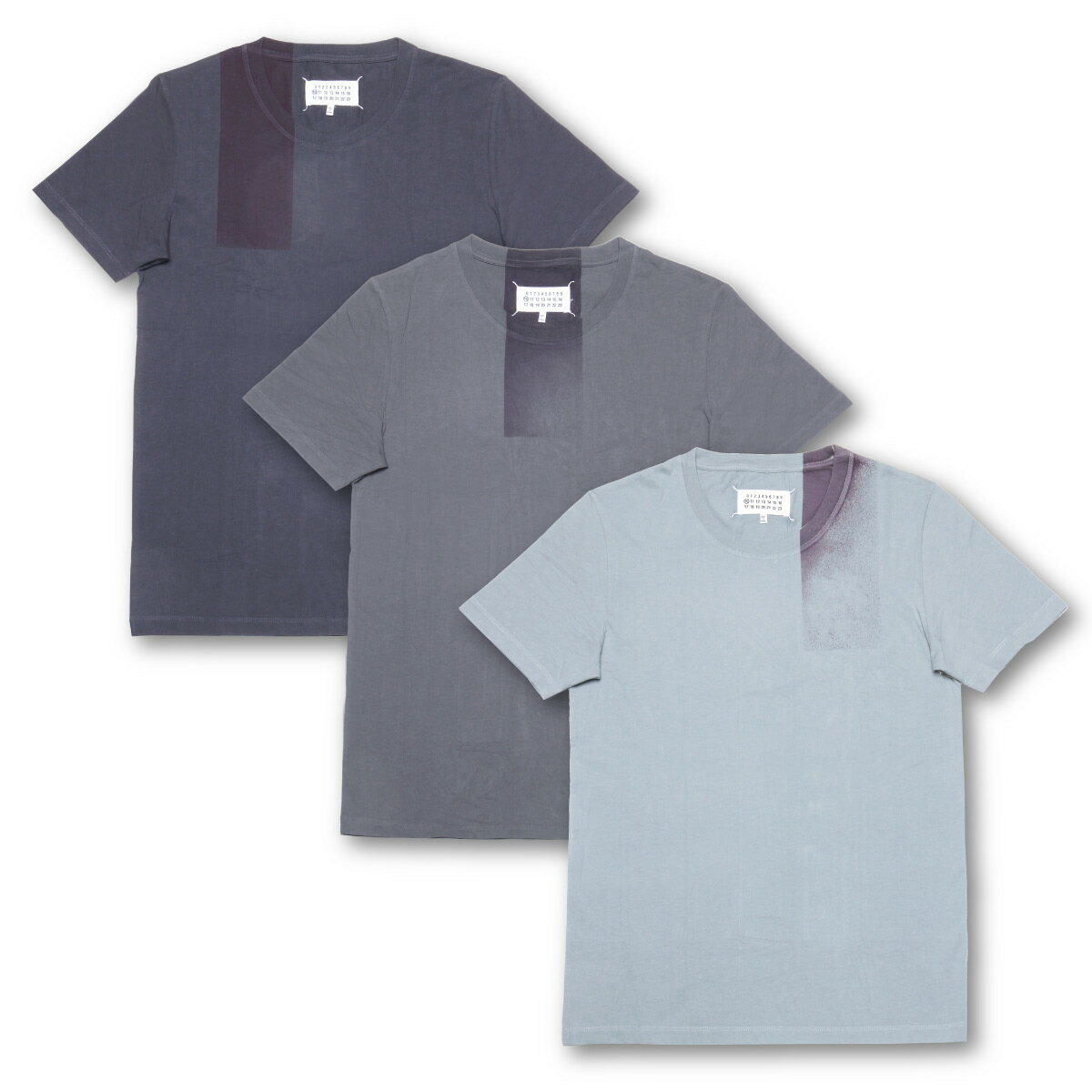 マルタン マルジェラ MARTIN MARGIELA Tシャツ メンズ S30GC0617 S22431 972 ライン10 半袖Tシャツ 3枚セット GREY グレー