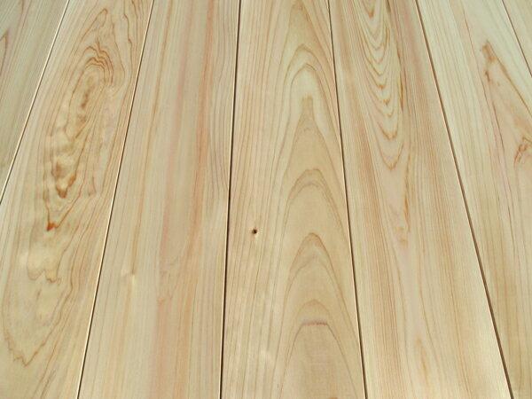 高級吉野桧無垢フローリング特選上小節 無塗装2950×15×110ミリ 10枚入