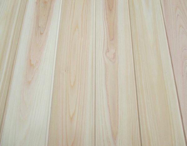 高級吉野桧無垢羽目板 無節 無塗装1950×12×100ミリ 17枚入