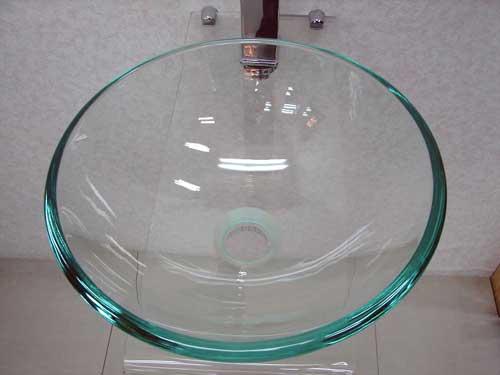 小さいガラス洗面ボール310mmタイプ クリア(手洗い鉢、洗面ボウル、洗面台・トイレ用)