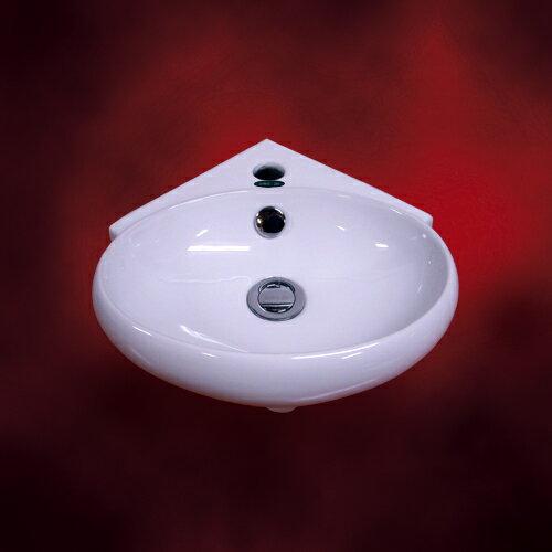 小さい洗面ボウル(小・壁付け陶器洗面ボール・洗面台・陶器シンク・手洗い鉢・小型・省スペース・トイレ用)W360×D385×H135 INK-TR4518