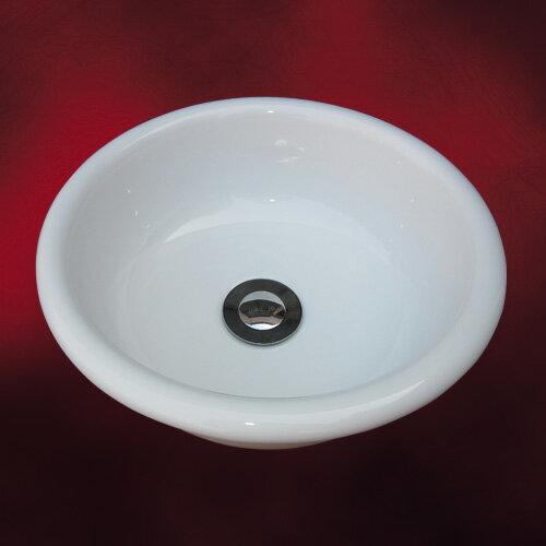 小さい洗面ボウル(洗面台・陶器シンク・手洗い鉢・小型・省スペース・オンカウンターシンク)W300×D300×H125  INK-0405048H