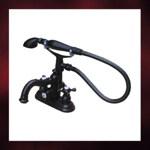4インチシャワー水栓(蛇口・カラン・おしゃれ・インテリア) 黒・ブラック INK-0301017H-S