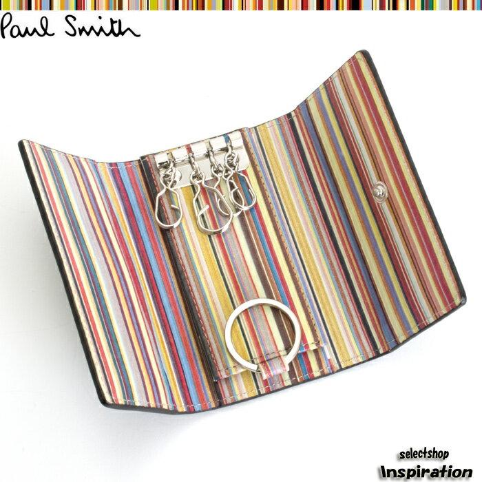 ポールスミス(Paul Smith)キーケース〈黒×マルチ〉(psa266-17)ブラック メンズ