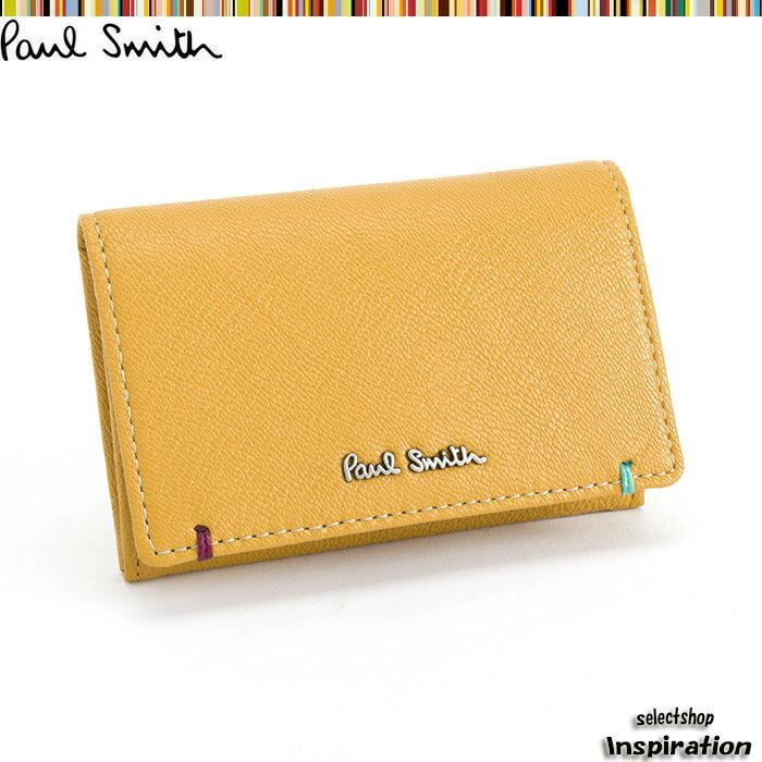 展示品箱なし ポールスミス Paul Smith 名刺入れ カードケース 黄 psu753-40 イエロー メンズ 紳士
