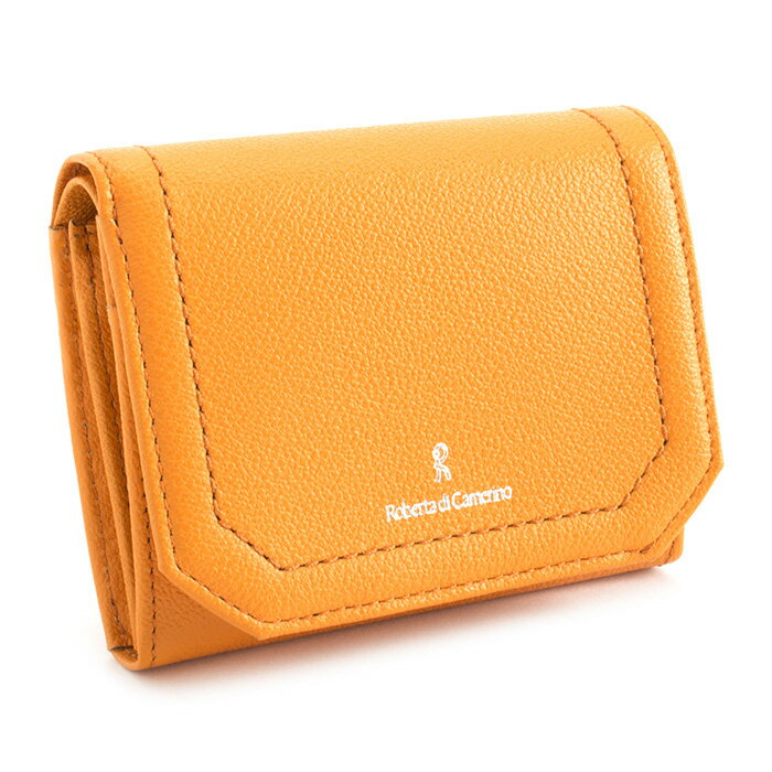 人気急上昇 ロベルタディカメリーノ 財布 二つ折り財布 オレンジ Roberta di Camerino rbi642-42 レディース 婦人