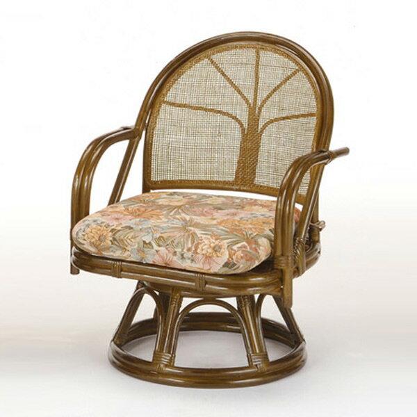 籐(ラタン) 回転座椅子 ミドルハイタイプ【S303B】 送料無料 【5000円以上送料無料】