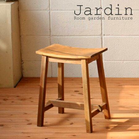 スツール 椅子 角型 マホガニー製 Jardin(ジャルダン) 天然木製 高さ46.5cm ( 送料無料 チェア カントリー調 イス いす チェアー 背もたれなし アジアン ) 【5000円以上送料無料】