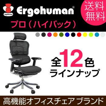 送料別 エルゴヒューマンのオフィスチェア【プロ・ハイタイプ】送料無料