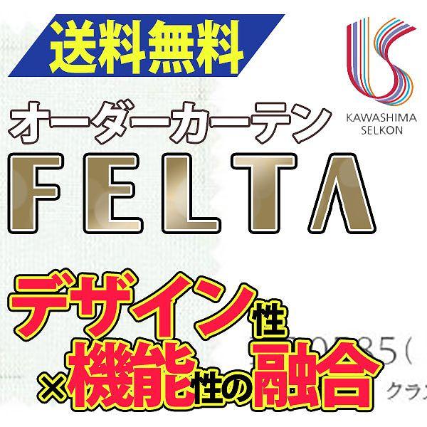 カーテン レース �光 �料無料 �島織物セルコン FELTA スタンダードカーテン FT0585 約2�ヒダ