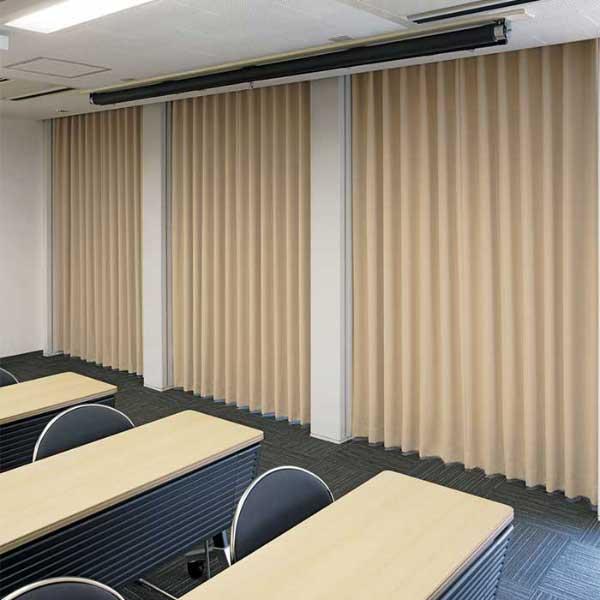 大人もOK スミノエ face フェイス コントラクトカーテン 教育 プレーン遮光 E-5400~5419 スタンダード縫製(VS) 約1.5倍ヒダ
