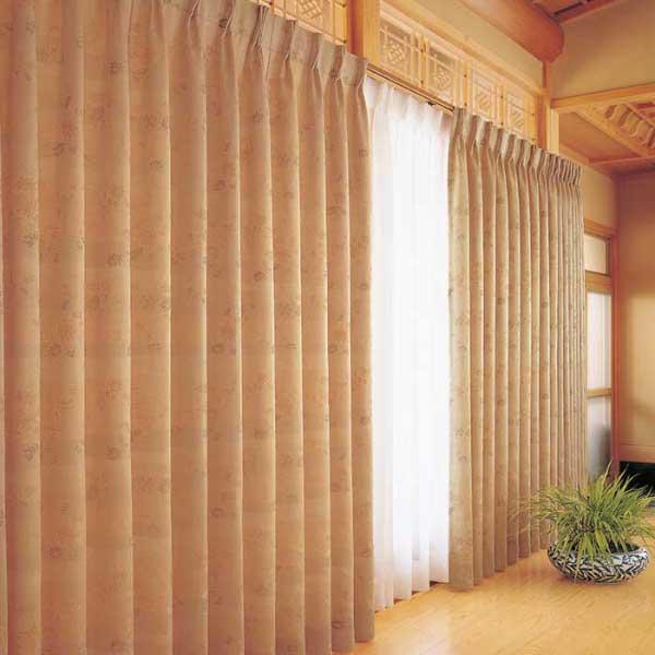 カーテン 激安 東リ オーダーカーテン&シェード elure 和風 KSA60167スタンダード縫製 約1.5倍ヒダ 2ツ山仕様 (税別価格) タッセル含む