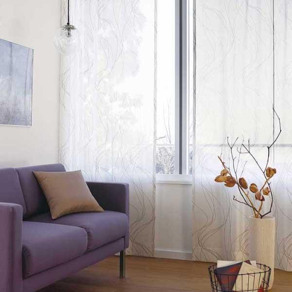 カーテン 激安 東リ オーダーカーテン&シェード elure ミラーレース KSA60468スタンダード縫製 約1.5倍ヒダ 2ツ山仕様 (税別価格) タッセルなし