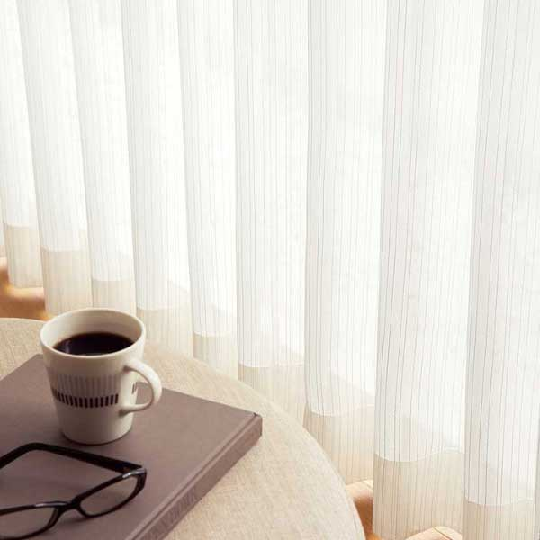 カーテン 激安 �リ オーダーカーテン&シェード elure ミラーレース KSA60484スタンダード縫製 約2�ヒダ 3ツ山仕様 (税別価格) タッセル��