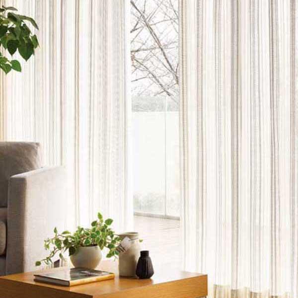 カーテン 激安 東リ オーダーカーテン&シェード elure ケースメント KSA60498スタンダード縫製 約2倍ヒダ 3ツ山仕様 (税別価格) タッセルなし