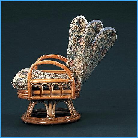 座椅子 【送料無料】 籐リクライニングチェア S-593 籐 軽量 リゾート デザイン チェア 年中 快適 おしゃれ 椅子 ラタン 回転 チェア 籐 座椅子 ハイチェア 軽い 丈夫 アジアン 天然 リビング