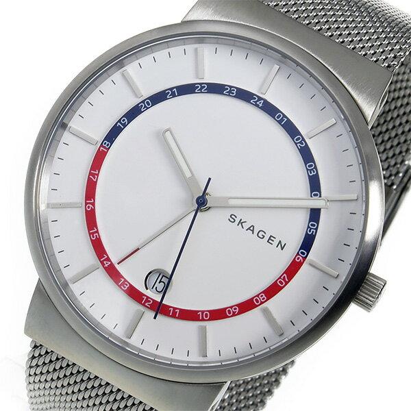 【期間限定】【ポイント2倍】(~9/19 09:59) スカーゲン SKAGEN アンカー ANCHER クオーツ 腕時計 SKW6251 ホワイト メンズ
