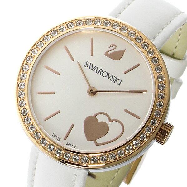 【期間限定】【ポイント2倍】(~9/19 09:59) スワロフスキー SWAROVSKI クオーツ 腕時計 5179367 ホワイト レディース