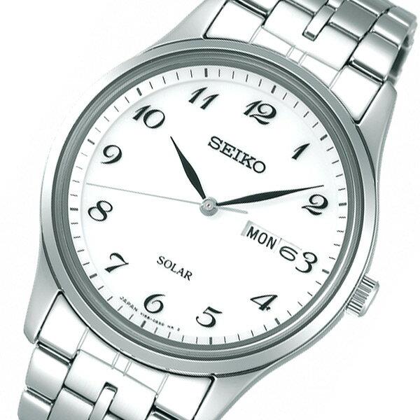 【期間限定】【ポイント2倍】(~9/19 09:59) セイコー SEIKO スピリット ソーラー 腕時計 SBPX067 シルバー 国内正規 メンズ