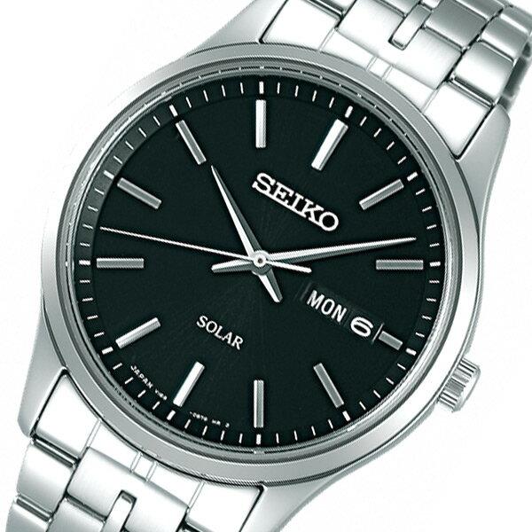 【期間限定】【ポイント2倍】(~9/19 09:59) セイコー SEIKO スピリット ソーラー 腕時計 SBPX069 ブラック 国内正規 メンズ