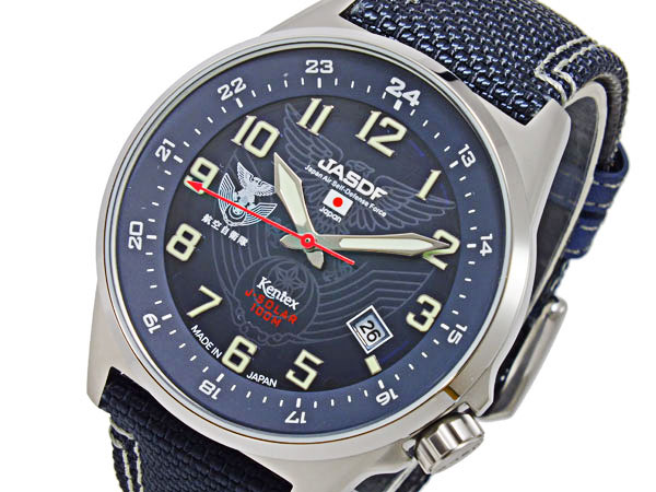 【今月特価】【ポイント10倍】(~9/30) ケンテックス KENTEX 腕時計 JSDF ソーラー スタンダード S715M-02 ブルー メンズ