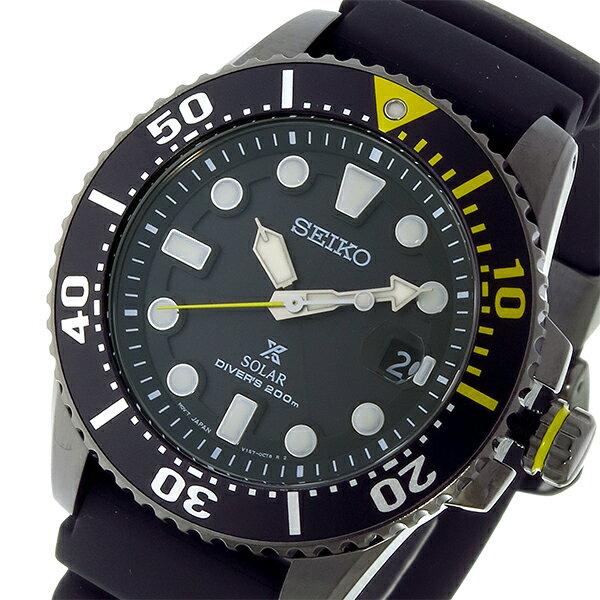 セイコー SEIKO プロスペックス PROSPEX ソーラー クオーツ 腕時計 SNE441P1 ブラック メンズ