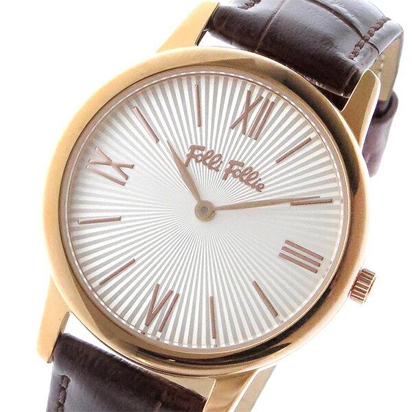 【期間限定】【ポイント2倍】(~9/19 09:59) フォリフォリ FOLLI FOLLIE マッチポイント クオーツ 腕時計 WF15R032SPW-BR シルバー レディース