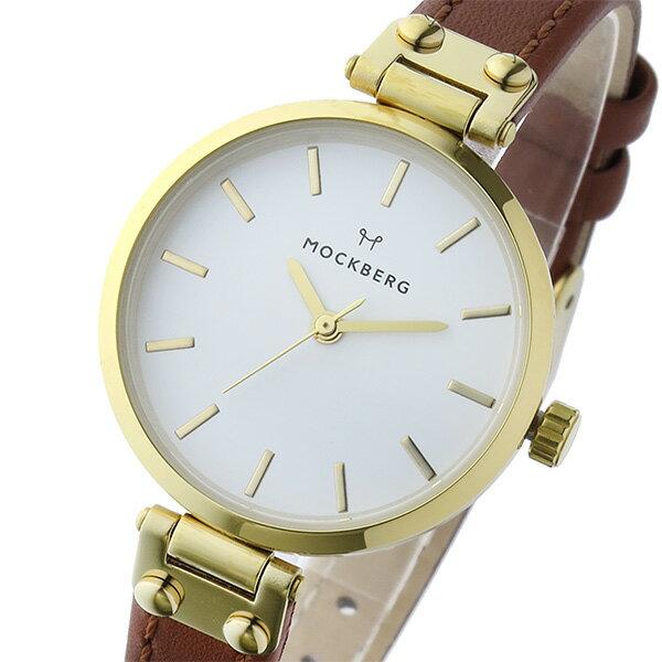 【期間限定】【ポイント2倍】(~9/19 09:59) モックバーグ MOCKBERG NORA クオーツ 腕時計 MO1403 ホワイト レディース