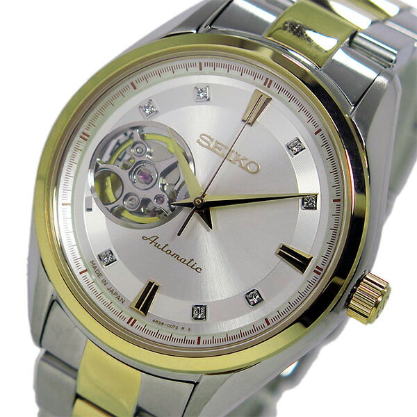 �期間�定】��イント2�】(~9/19 09:59) セイコー SEIKO プレサージュ 自動巻� 腕時計 SSA868J1 ホワイト メンズ