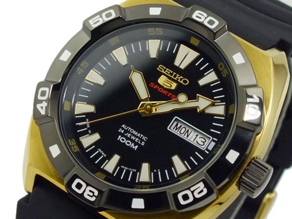 【期間限定】【ポイント2倍】(~9/19 09:59) セイコー SEIKO セイコー 5 スポーツ SPORTS 自動巻き 腕時計 SRP288J1 ブラック メンズ