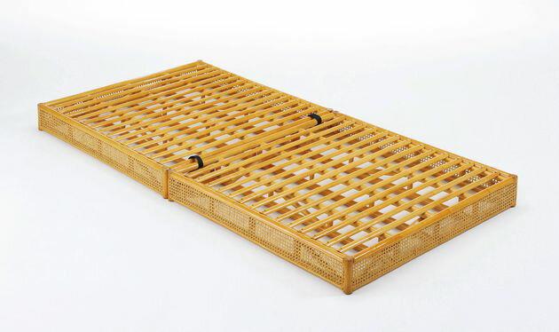 籐ベッド 折りたたみベッド シングル 籐製 ラタン フレームのみ 【送料無料】艶やかで涼しい天然籐の素材感。 折りたたみベッド,籐スノコベッド