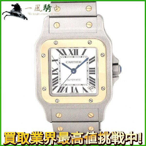 155093【中古】【Cartier】【カルティエ】サントスガルベ XL シルバー文字盤 K18YG×SS 保証書 箱