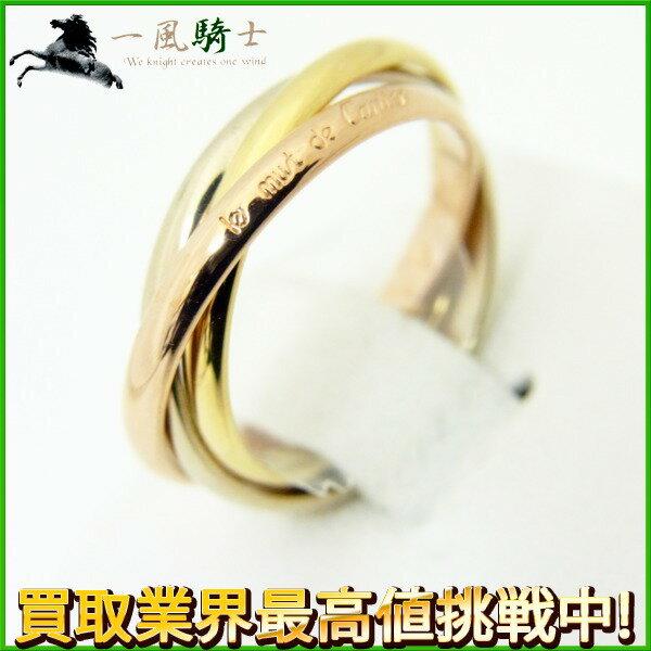 203571【中古】【CARTIER】【カルティエ】トリニティ リング K18YG×K18WG×K18PG ♯48cartier 8号 3カラー スリーカラーゴールド 750 指輪 ブランドジュエリー