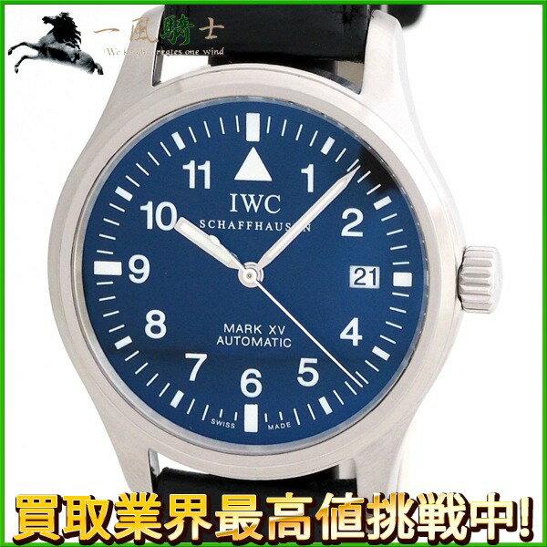 209046【中古】【IWC】【インターナショナルウォッチカンパニー】マークXV IW325301 黒文字盤 SS×革 マーク15