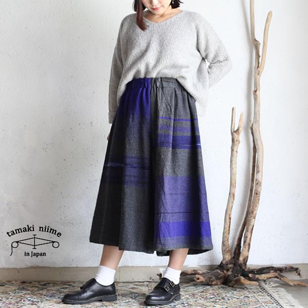 tamaki niime(タマキ ニイメ) 玉木新雌 only one wide pants SHORT wool70% cotton30% WPS_W03  オンリーワン ワイドパンツ ショート ウール70% コットン30% 【送料無料】