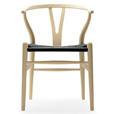 Yチェア (ビーチ材 座面ブラック ソープ塗装) Yチェア ハンス・J・ウェグナー 椅子 チェア カールハンセン ダイニングチェア