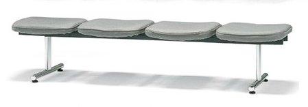 長椅子 CL58-CY 幅198cm 背なし 布張り ロビーチェア 待合イス