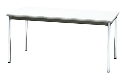 STD-575S 長方形:幅150×奥行75×高さ70cm ミーティングテーブル 会議テーブル 4本脚 クロームメッキ脚