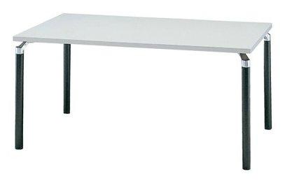 TM430-MZ 長方形:幅150×奥行90×高さ70cm ミーティングテーブル 会議テーブル 4本脚 ブラック脚