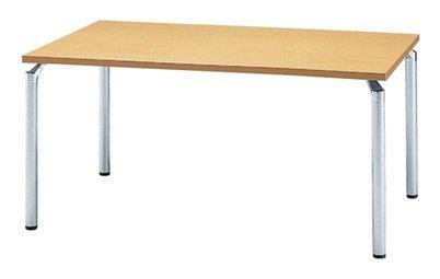 TM435-MZ 長方形:幅150×奥行90×高さ70cm ミーティングテーブル 会議テーブル 4本脚 シルバー脚