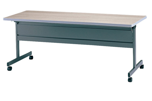 TM1845TF-MG 長方形:幅180×奥行45×高さ70cm ミーティングテーブル 会議テーブル スタック 塗装 キャスター付 幕板付き