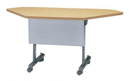 TM315-MG コーナータイプ:奥行60cm用 ミーティングテーブル 会議テーブル スタック 塗装 キャスター付 幕板付き