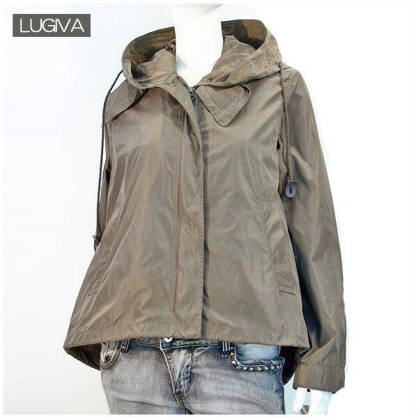 期間限定SALE 送料無料 LUGIVA ライナーベスト付き フートジャケット レディースアウター (カーキ)