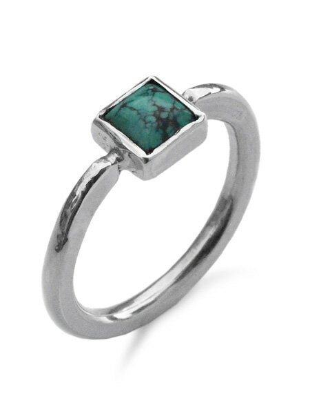 SunKu(サンク・39)Roller Press Ring 01 W/Turquoise / [SK-192-01] シルバー リング 指輪 ターコイズ グリーン 緑 銀 天然石 宝石 メンズ レディース【送料無料】